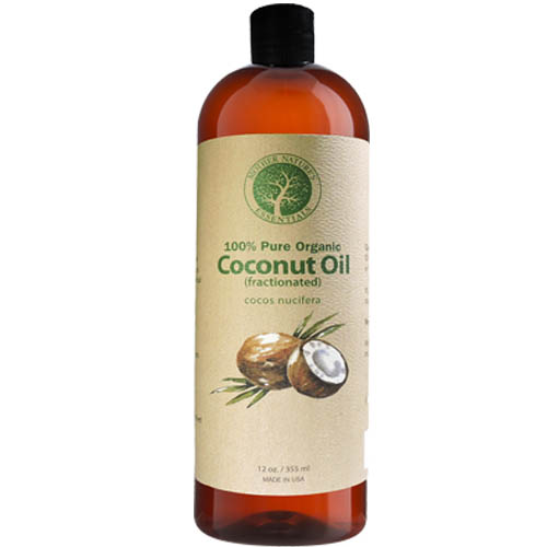 Organic Fractionated Coconut Oil For Skin 100% Pure & Natural  12oz  Wildcrafted & Organic  The Best Carrier Oil + Massage Oil + Moisturizer   Perfect
