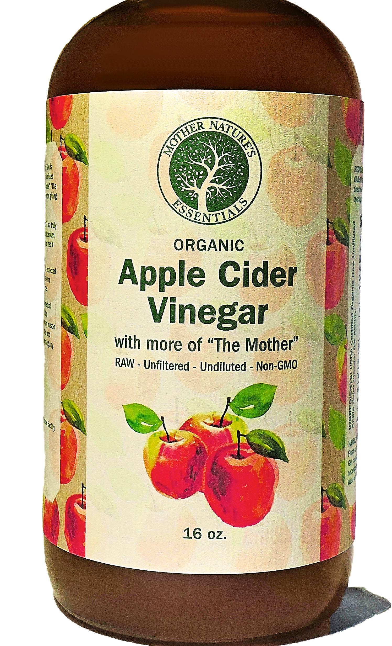 Apple Cider Vinegar, USDA Organic Raw, Unfiltered ...